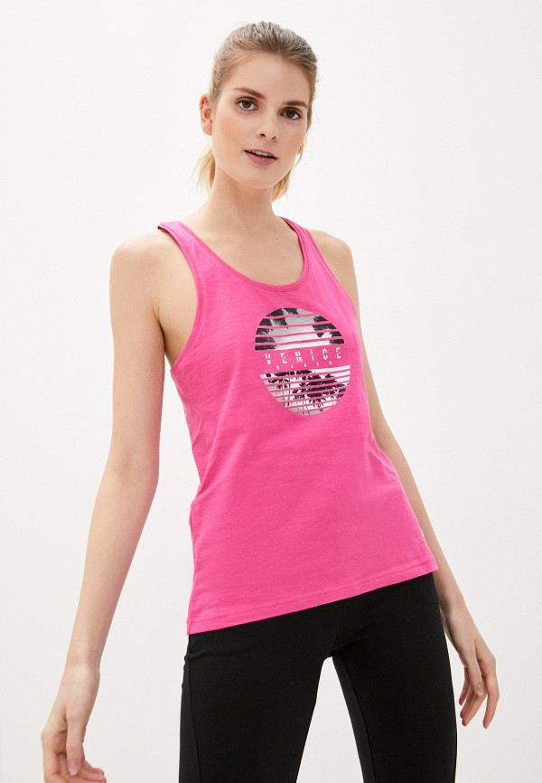 женская спортивные майка 4f, розовая