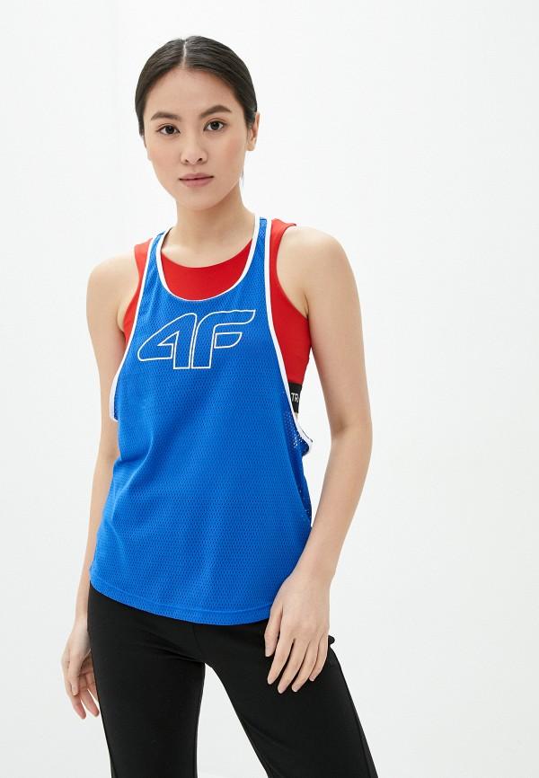 женская спортивные майка 4f, синяя
