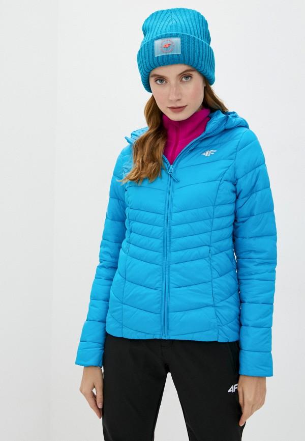 женская спортивные куртка 4f, голубая