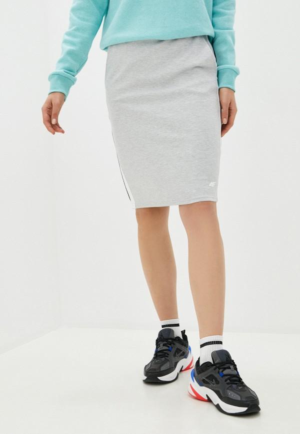 женская спортивные юбка 4f, серая