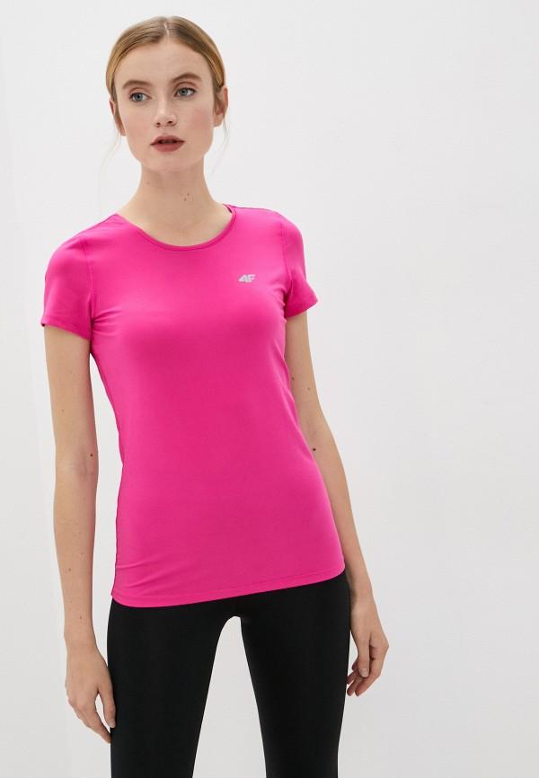 женская спортивные футболка 4f, розовая