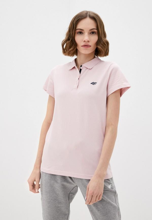 женское поло 4f, розовое