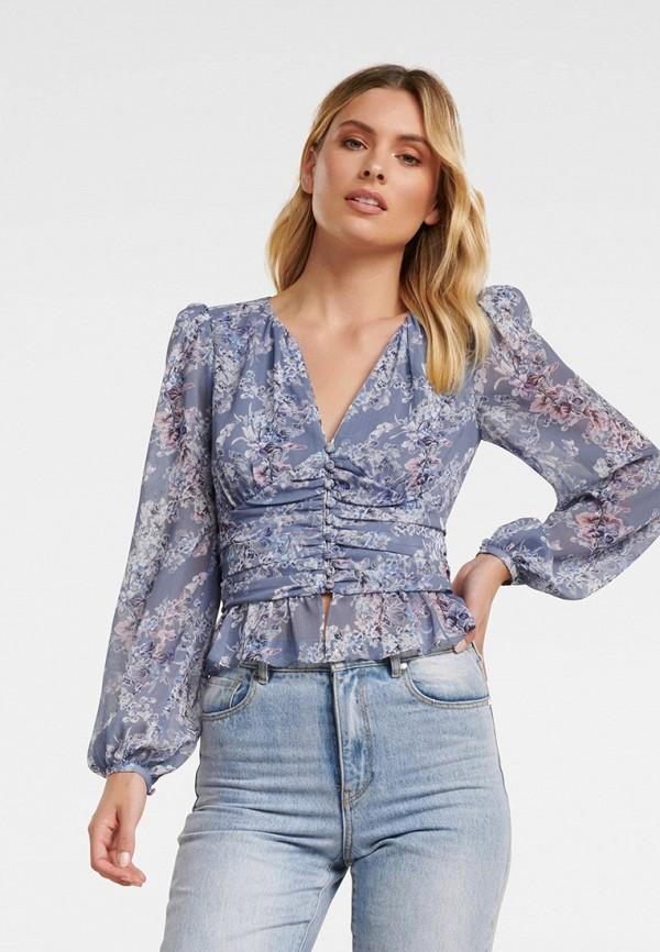 женская блузка forever new, синяя