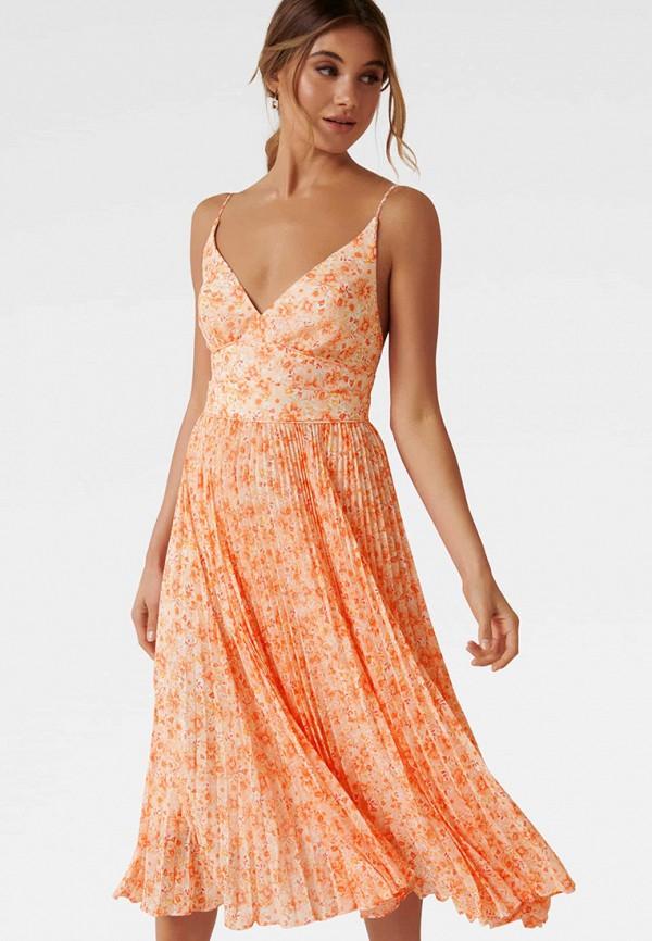 женское повседневные платье forever new, оранжевое