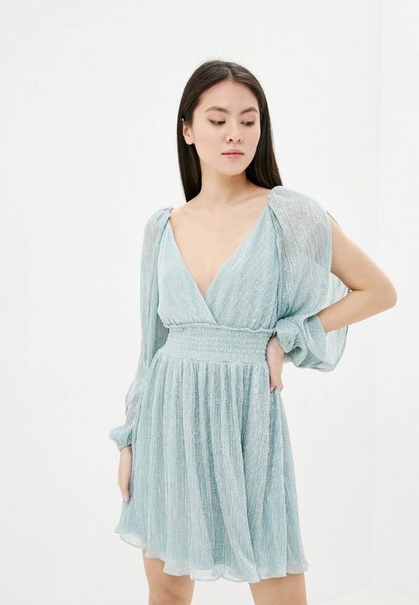 женское вечерние платье forever new, бирюзовое