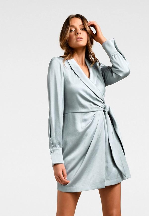 женское платье forever new, серебряное