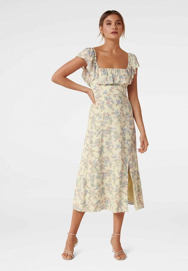 женское повседневные платье forever new, бежевое