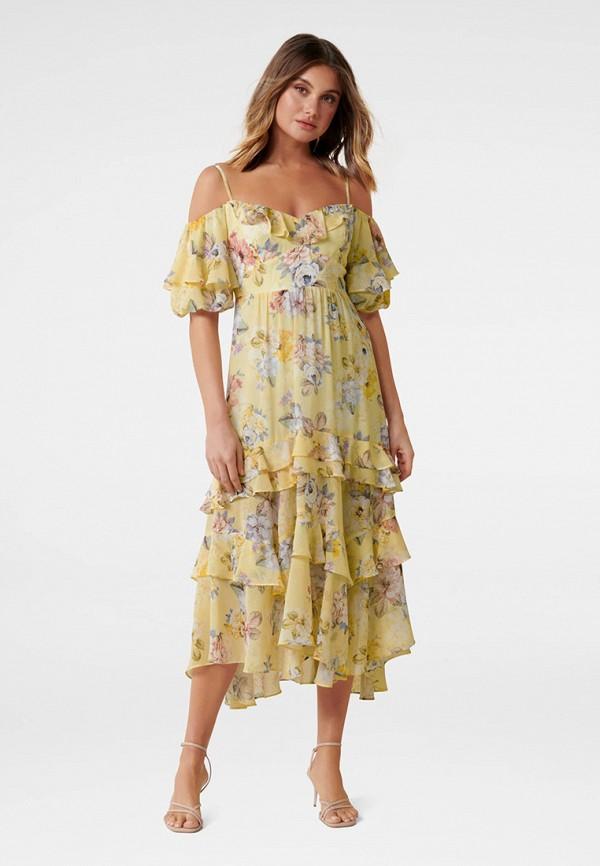 женское платье forever new, желтое