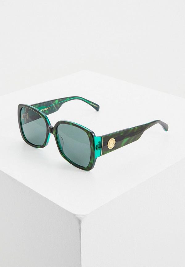 женские квадратные солнцезащитные очки for art's sake, зеленые