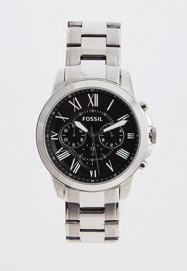 мужские часы fossil, серебряные