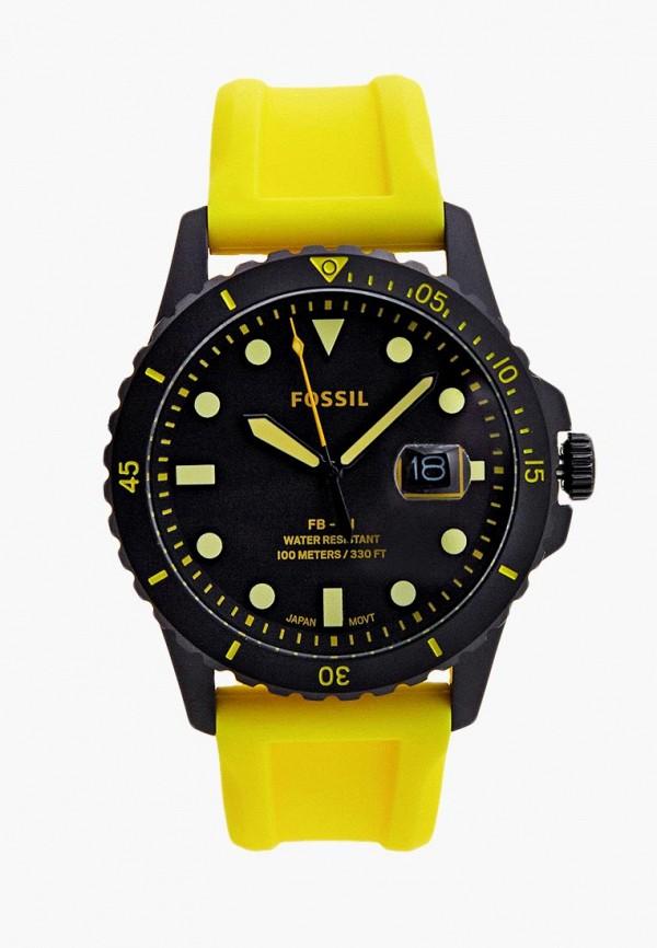 мужские часы fossil, желтые