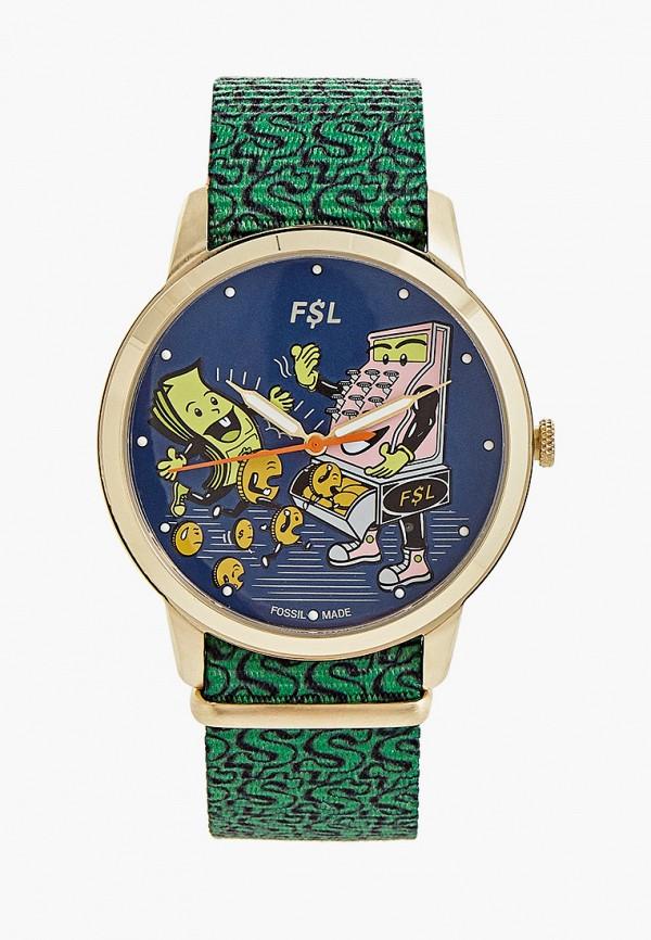 мужские часы fossil, золотые