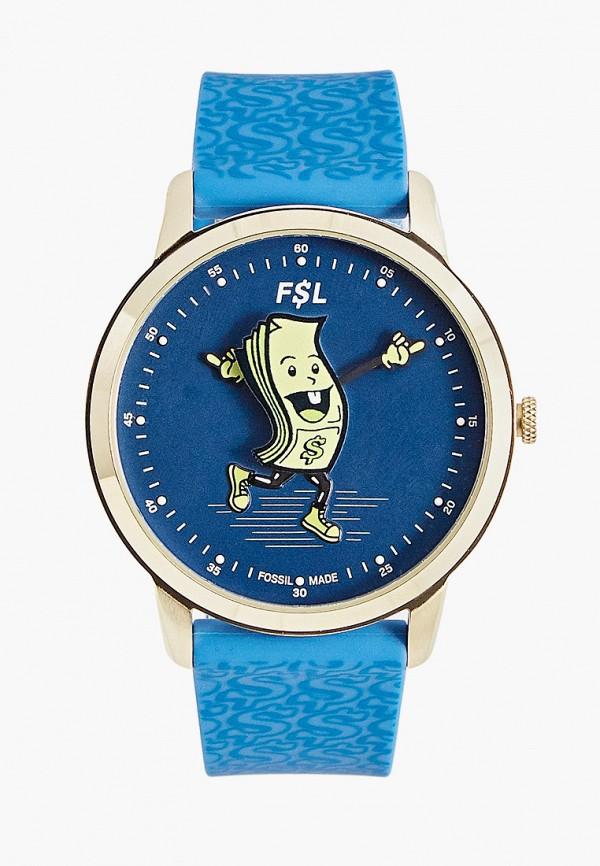 мужские часы fossil, синие