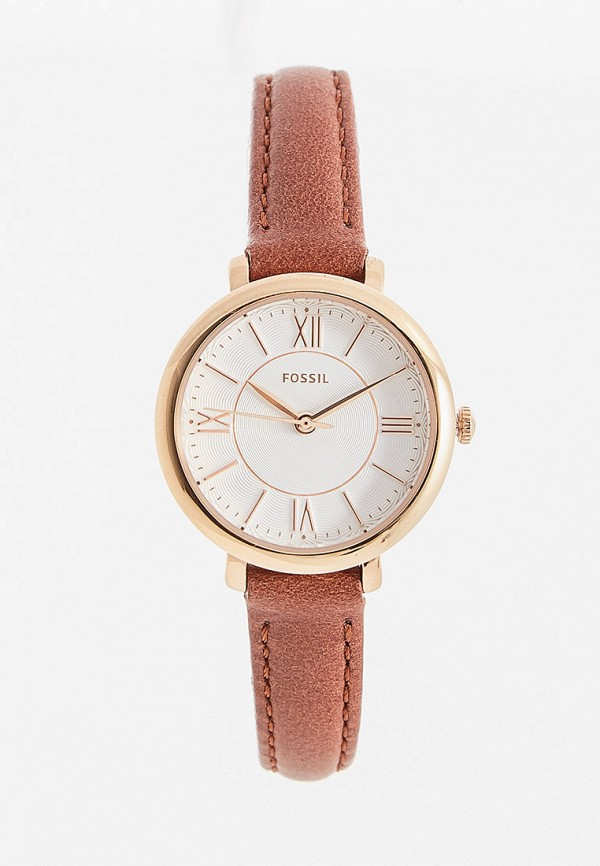 женские часы fossil, коричневые
