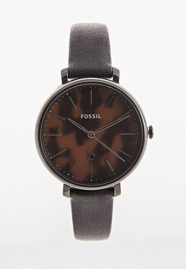 женские часы fossil, черные