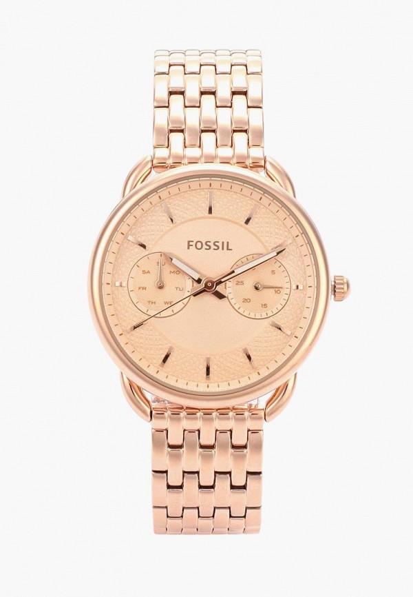 женские часы fossil, золотые