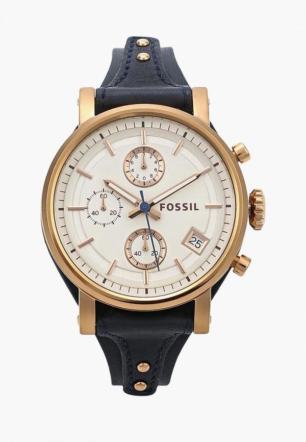 женские часы fossil, синие