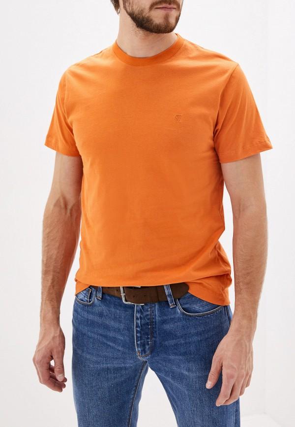 мужская футболка french connection, оранжевая