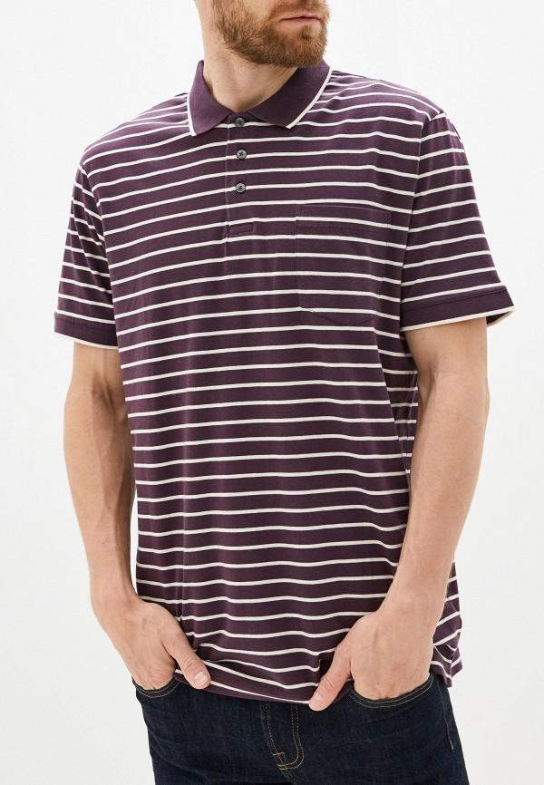мужское поло с коротким рукавом french connection, фиолетовое