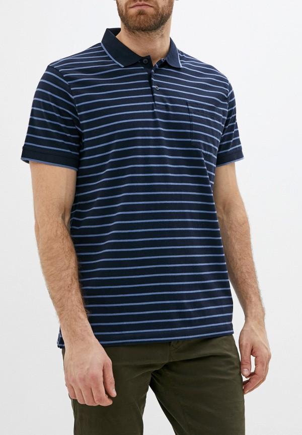 мужское поло с коротким рукавом french connection, синее