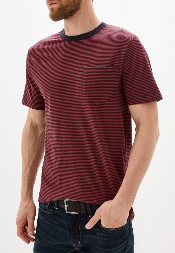 мужская футболка с коротким рукавом french connection, бордовая