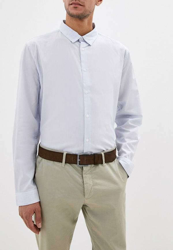 мужская рубашка с длинным рукавом french connection, голубая