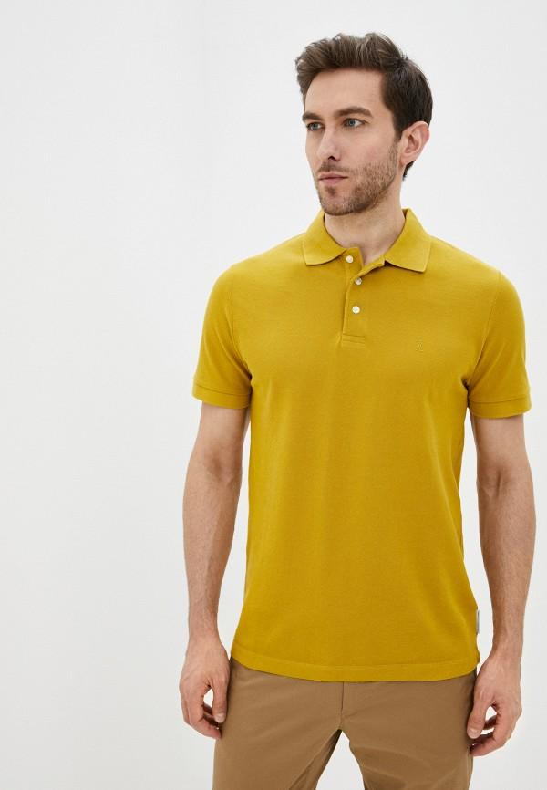 мужское поло с коротким рукавом french connection, желтое