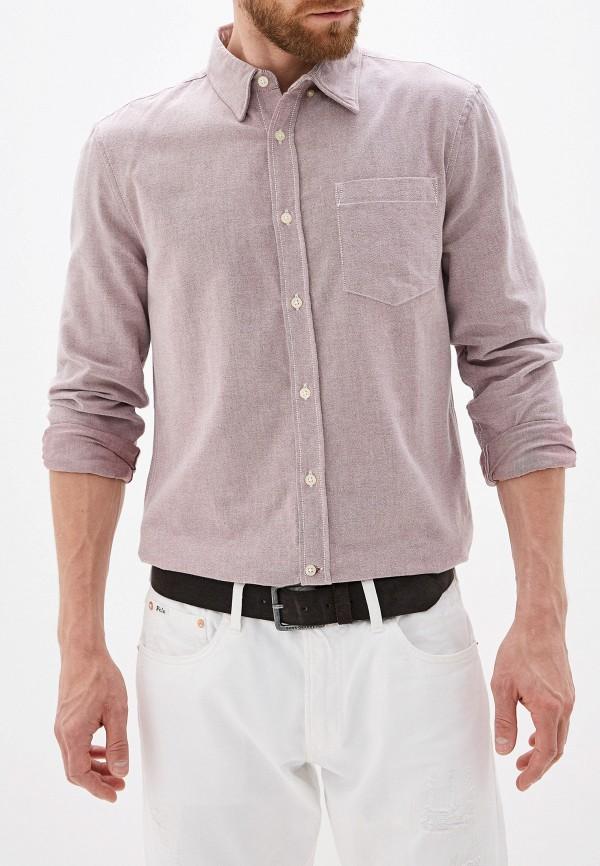 мужская рубашка с длинным рукавом french connection, розовая