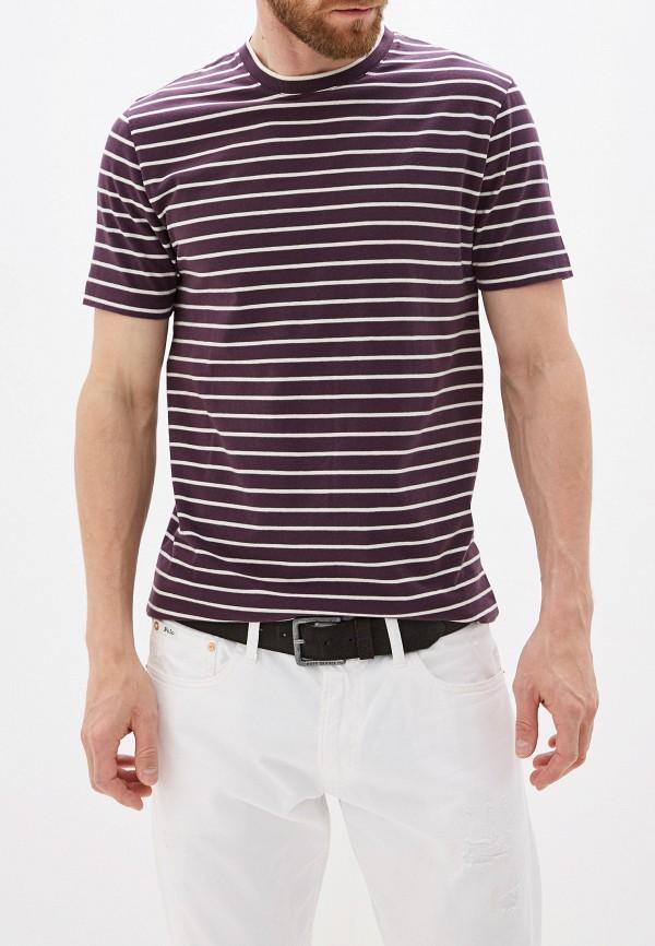 мужская футболка с коротким рукавом french connection, фиолетовая