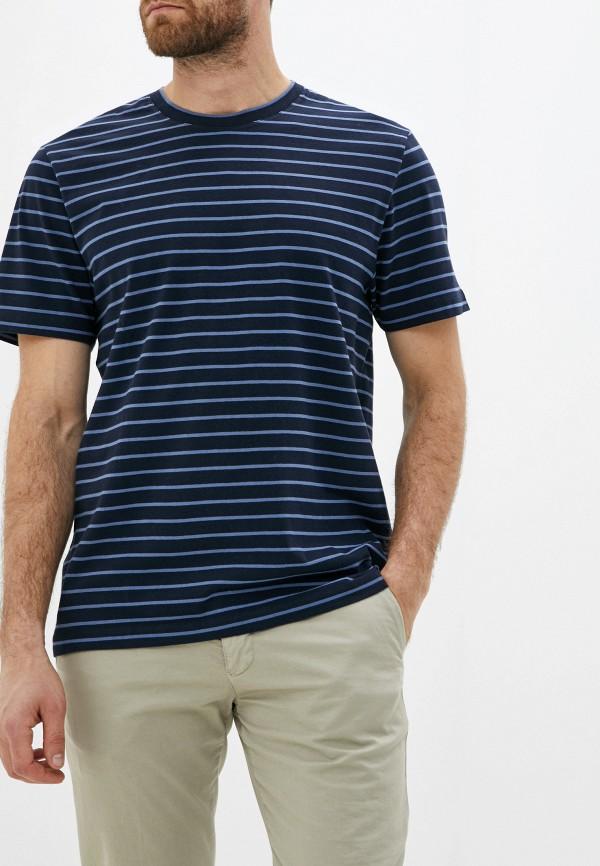 мужская футболка french connection, синяя