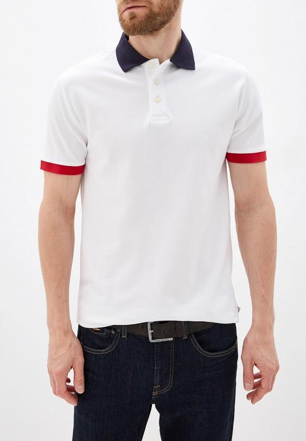 мужское поло с коротким рукавом french connection, белое