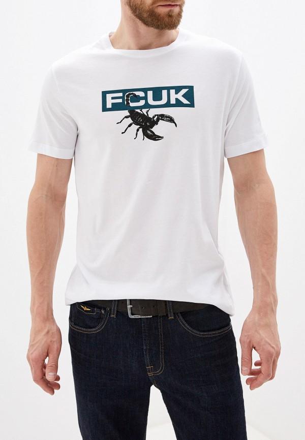 мужская футболка french connection, белая