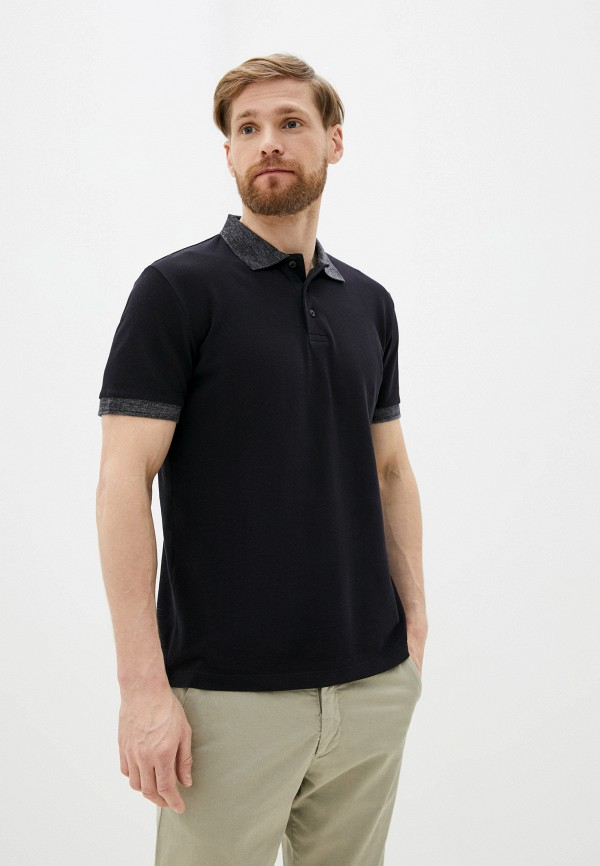 мужское поло с коротким рукавом french connection, черное