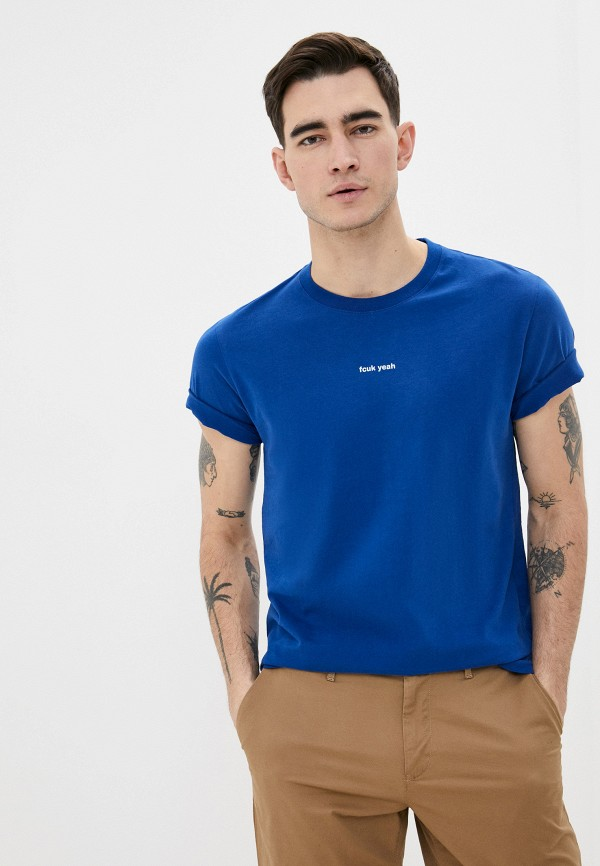 мужская футболка с коротким рукавом french connection, синяя