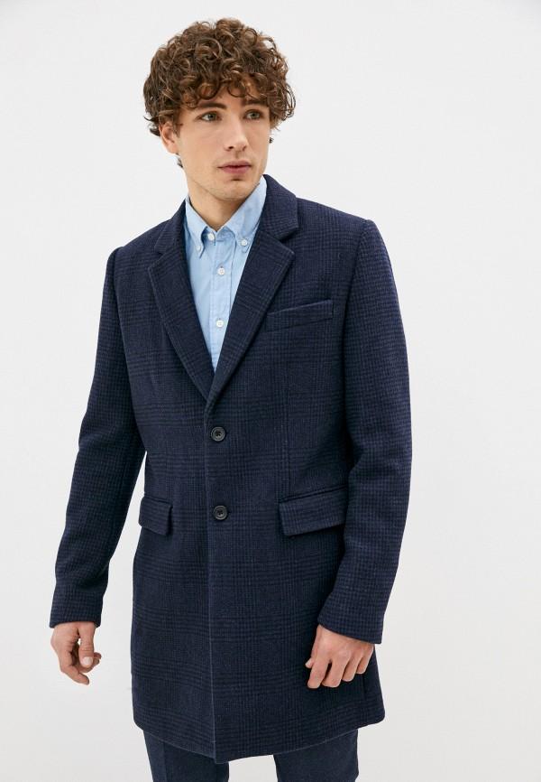 мужское пальто french connection, синее