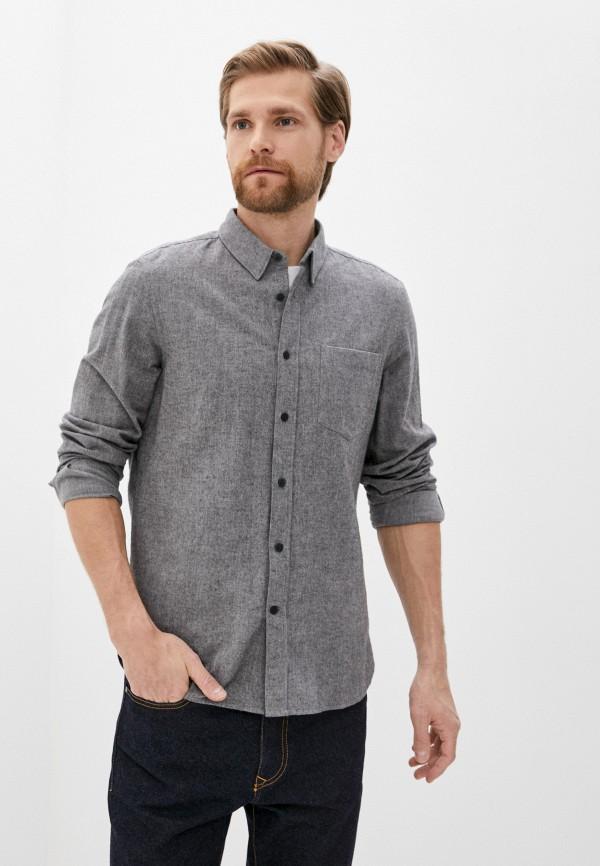 мужская рубашка с длинным рукавом french connection, серая