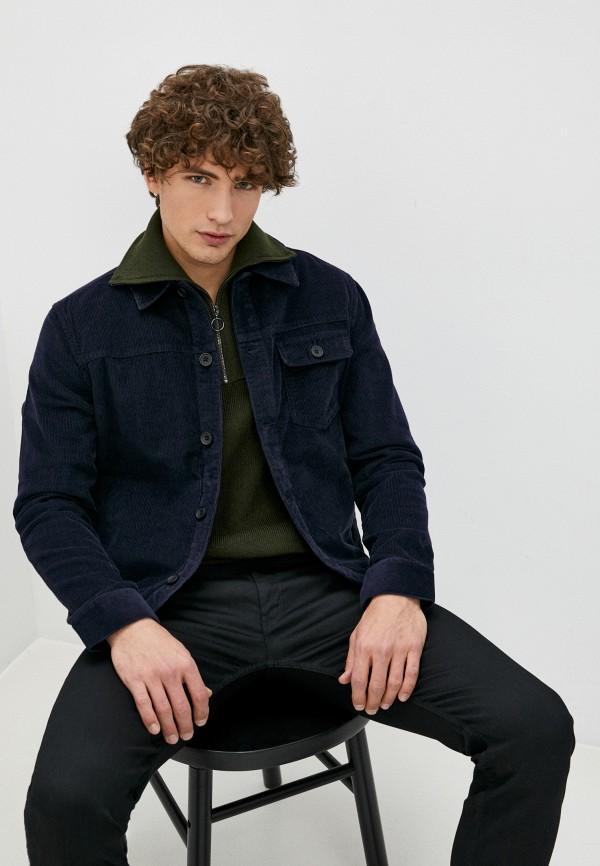 мужская куртка french connection, синяя
