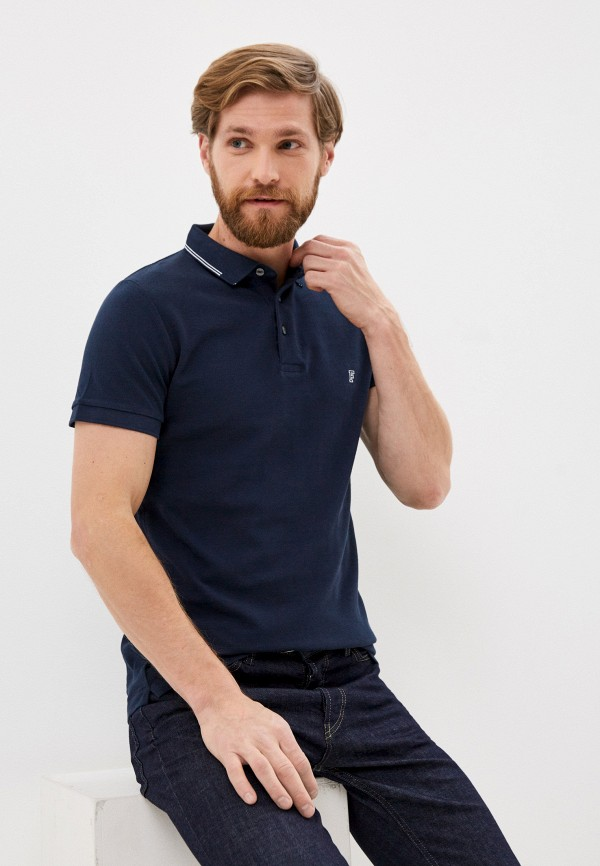 мужское поло french connection, синее