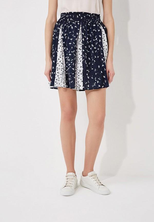 женская юбка мини french connection, синяя