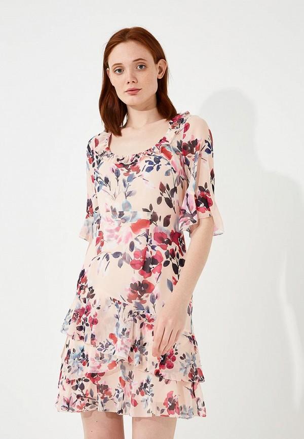 женское повседневные платье french connection, розовое