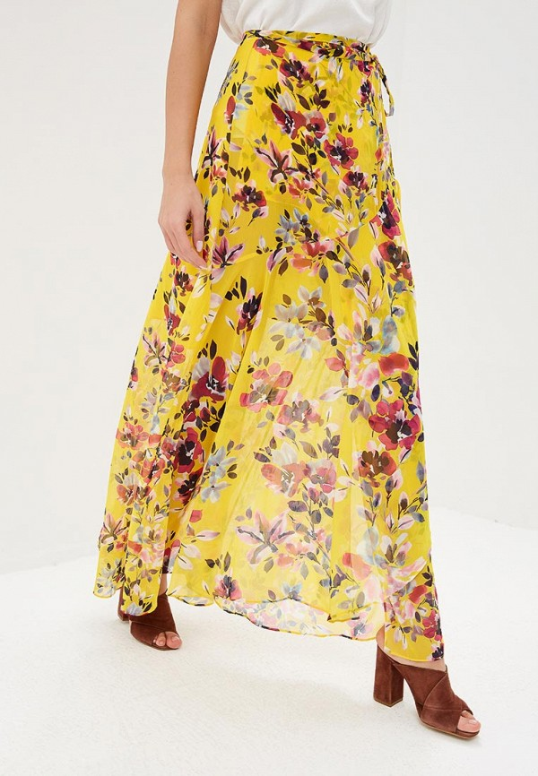 женская юбка french connection, желтая