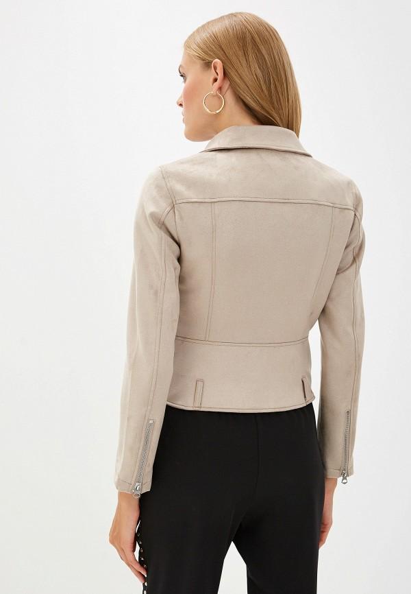 Фото 3 - Куртку кожаная French Connection бежевого цвета