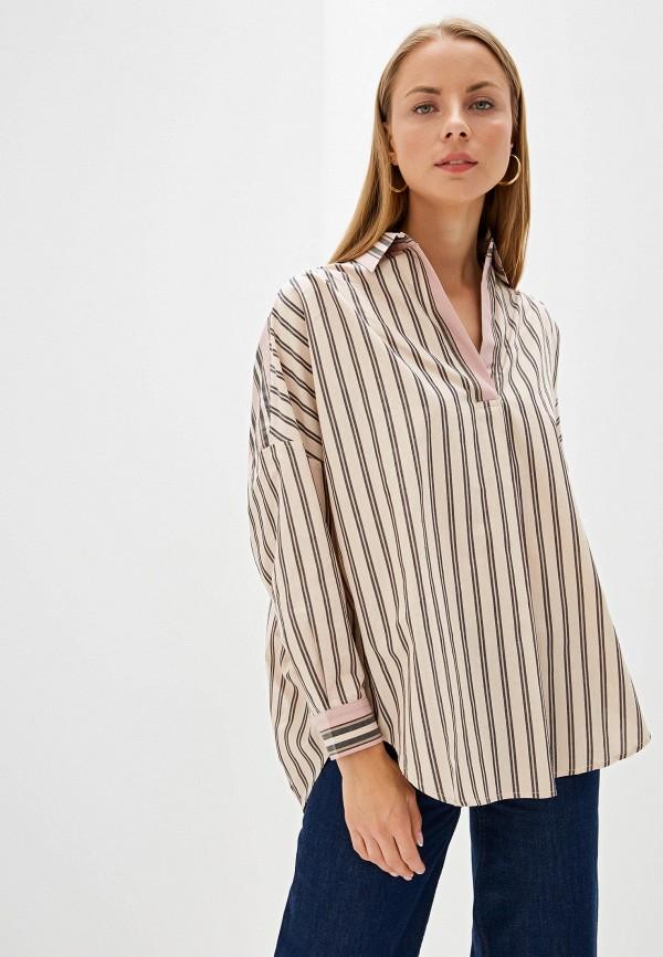 женская блузка french connection, бежевая
