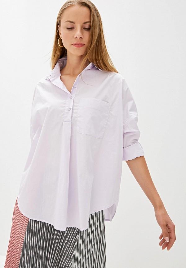 женская блузка french connection, фиолетовая