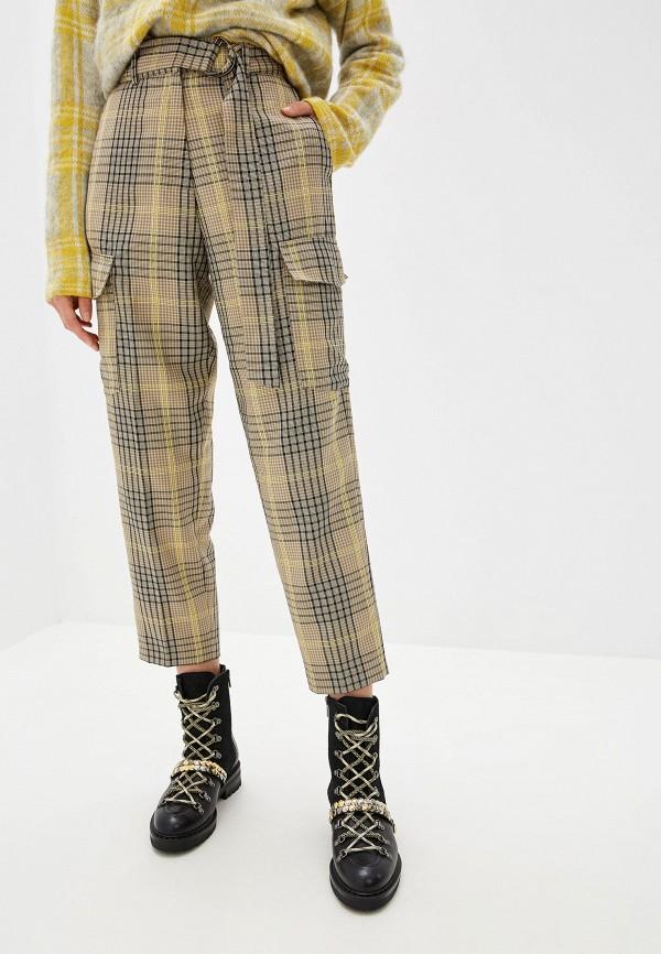женские классические брюки french connection, бежевые