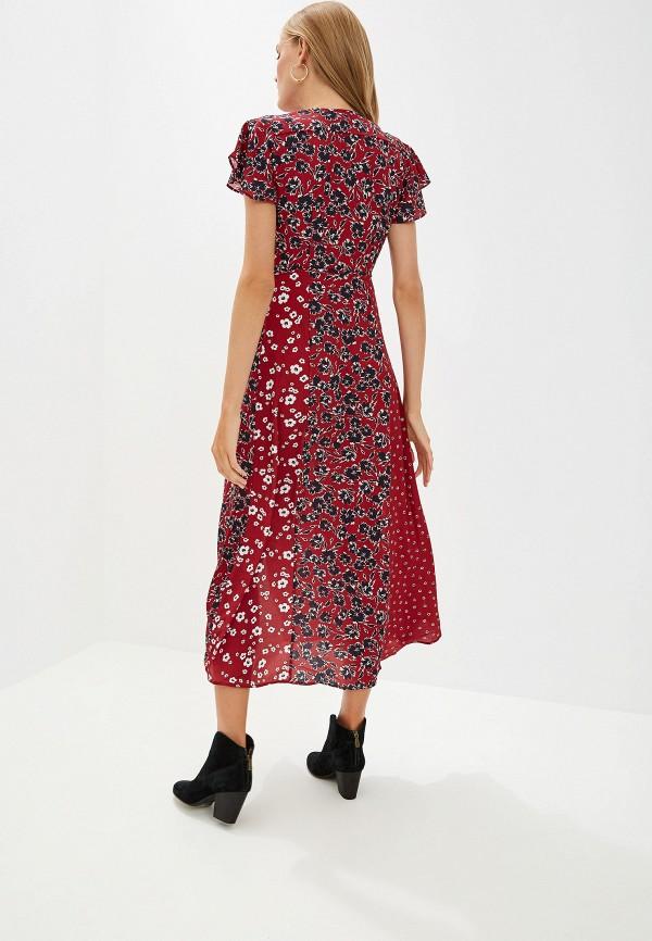 Фото 3 - женское платье French Connection бордового цвета