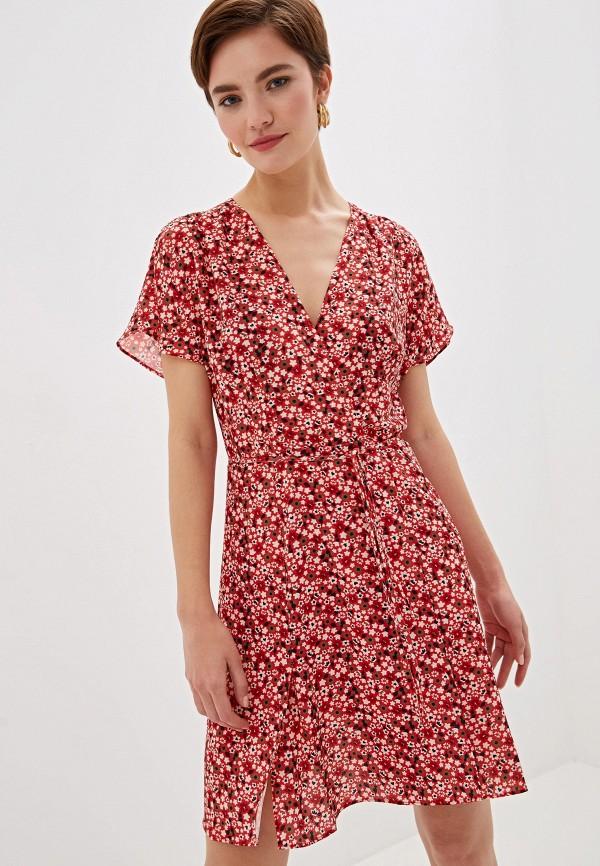 женское платье french connection, красное