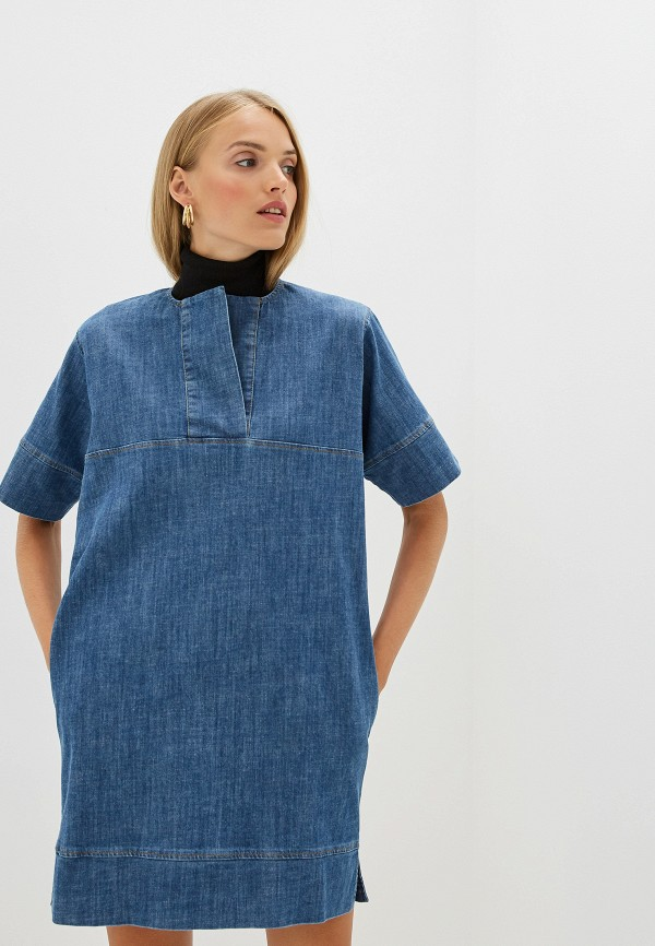 женское джинсовые платье french connection, синее
