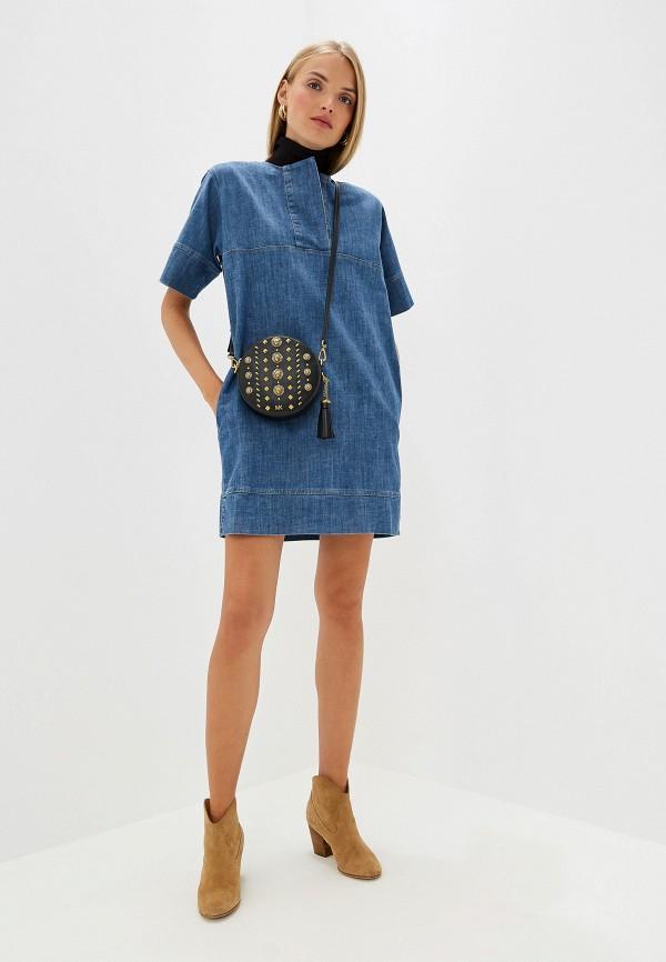 Фото 2 - Платье джинсовое French Connection синего цвета