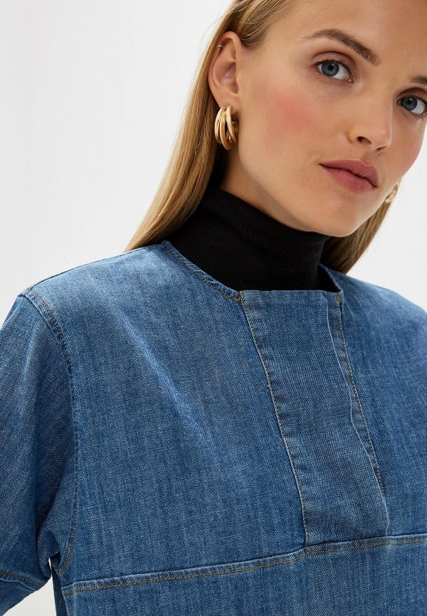 Фото 4 - Платье джинсовое French Connection синего цвета